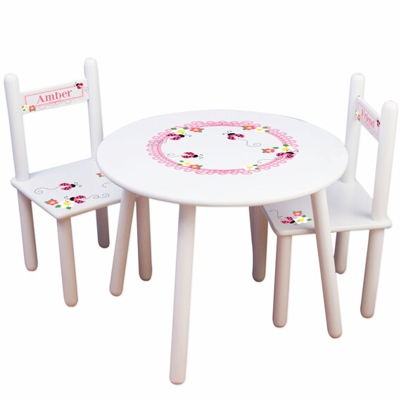 Surprising Girls Lady Bug Table Chair Set W Pink Ladybug Kids Play Table For Red Ladybug Bedroom Nursery Personalized Childs Chair Tablesetrnd 317 Machost Co Dining Chair Design Ideas Machostcouk