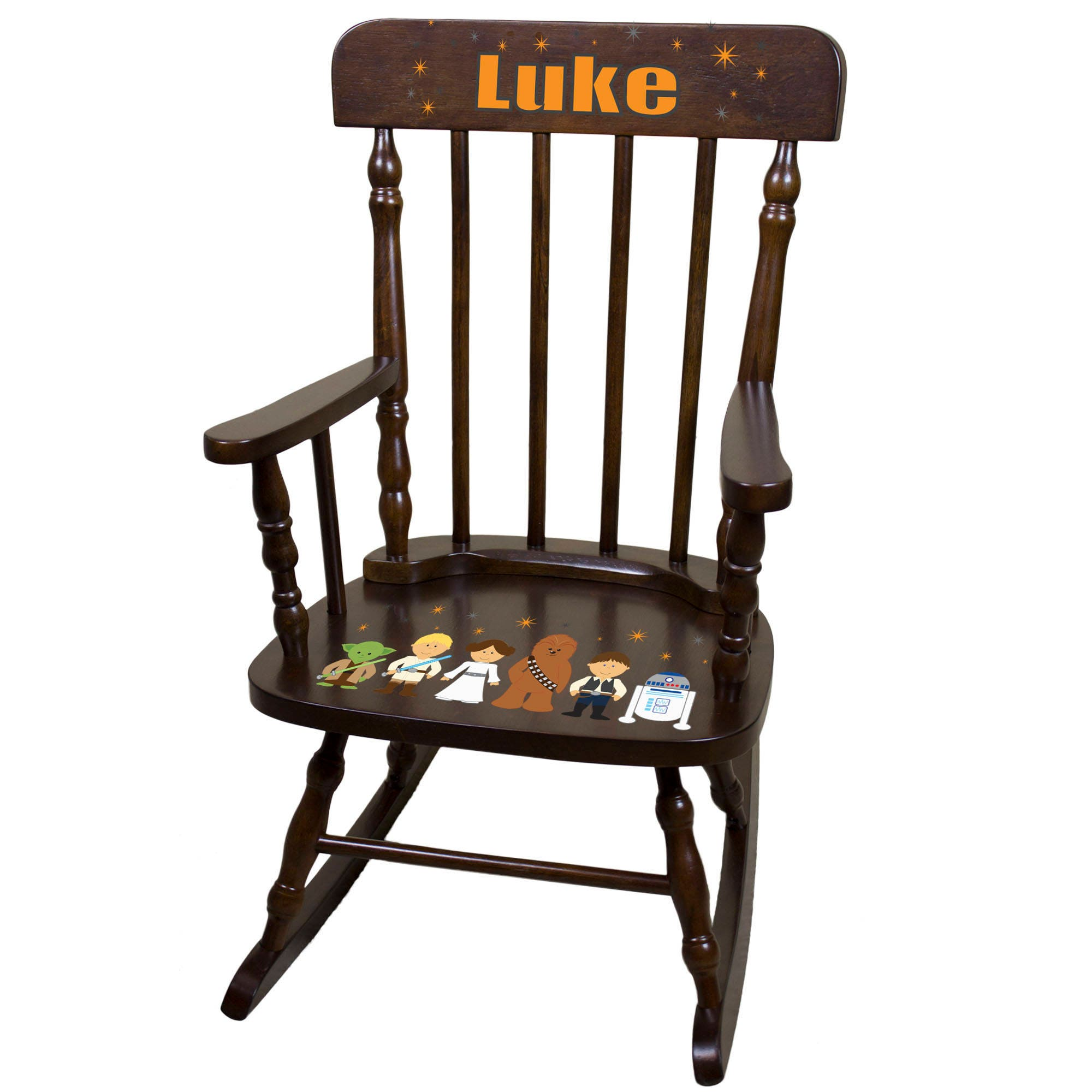 Child S Personalized Star Wars Kids Rocking Chair For Boys Custom Childrens Rocker Baby Gift Nursery Decor Toddler Starwars Spin Esp 231