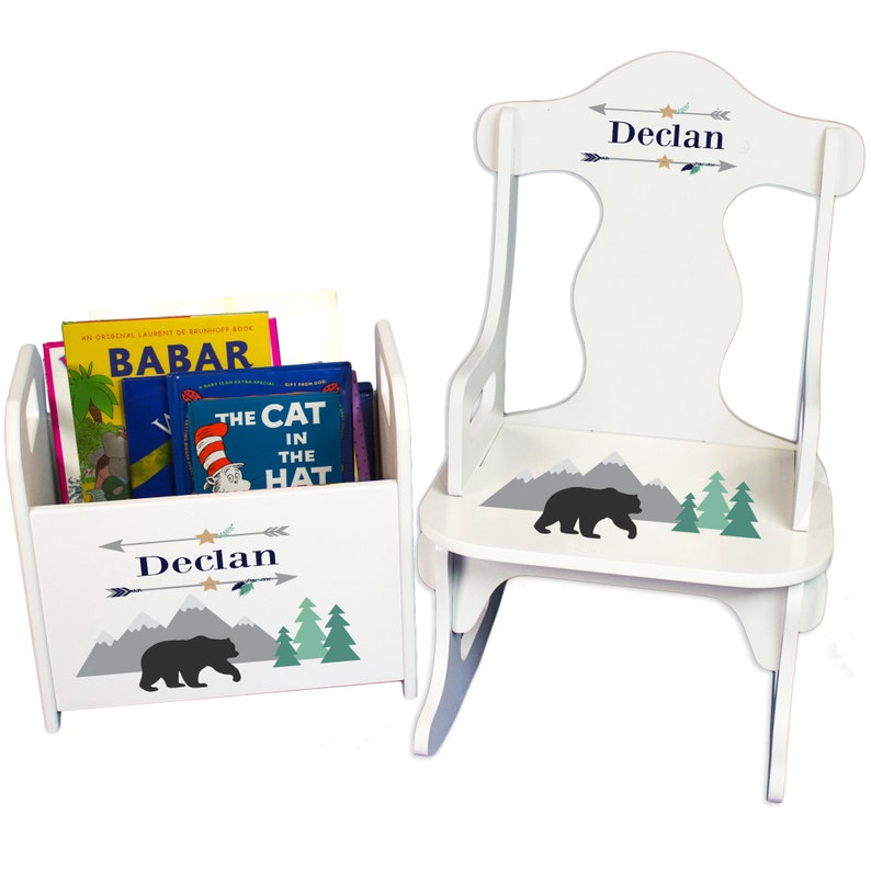 Personalized Childs Elephant Puzzle Rocking Chair