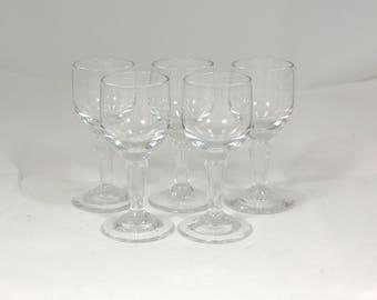 Vintage Glasses Liqueur Sherry Limoncello Anis