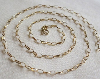 9ct Gold Necklace Etsy