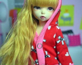 Red hoodie/jacket for YOSD doll 1/6 bjd littlefee bambicrony ciaobella iplehouse BID