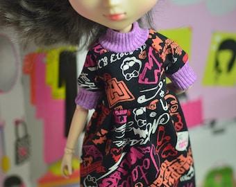 BIG SALE *** Monster High printed dress for Pullip doll