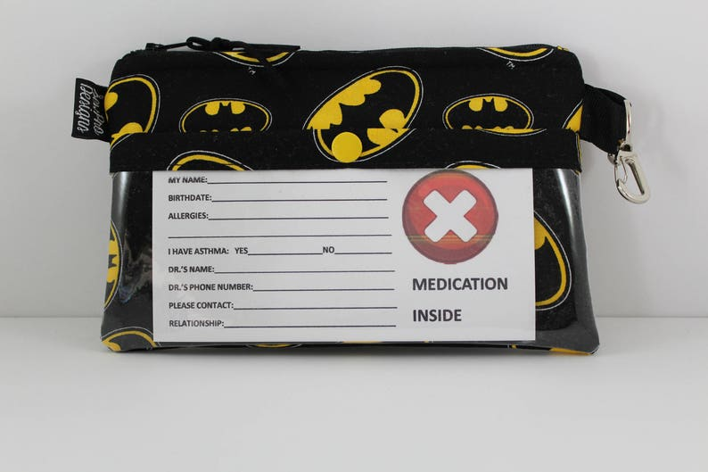 Allergies Water Repellent Lining Insulated EpiPen Bag Travel Medical Bag EpiPen Pouch 8x 5 Zipper Top