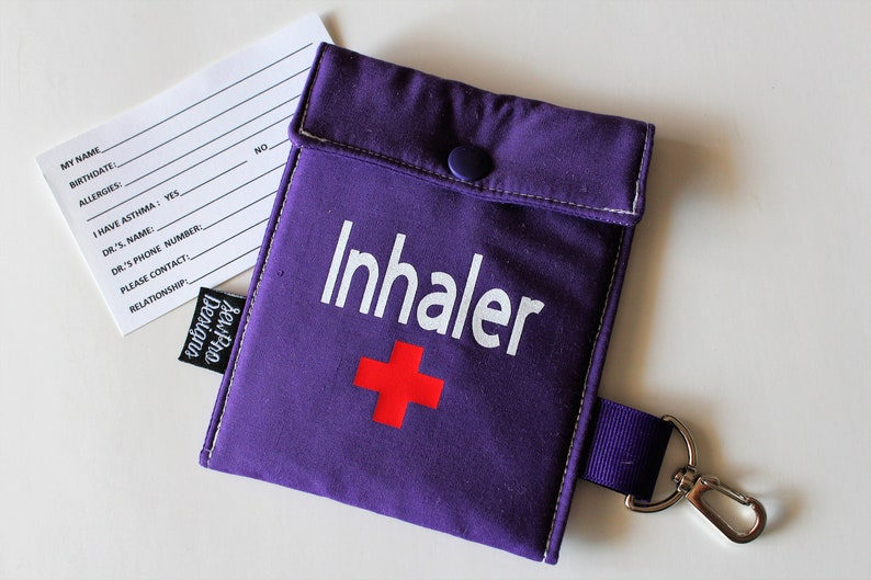 Insulated Optional Inhaler Pouch Carry Bag Glow In The Dark Stars Auviq Epi Carry Case Choose Your Size