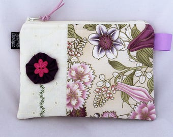 Cosmetic Bag Gadget Pouch Makeup Bag (5x7.5) Diaper Bag Accessory Zipper Pouch Purse Organizer Bag Womens Gift