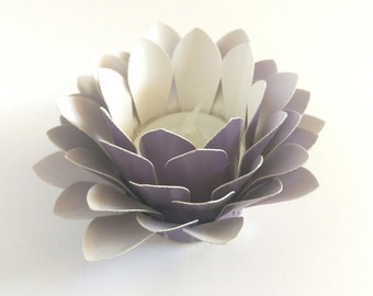 Paper Lotus Lantern -Metallic Purple-