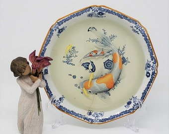 Koi Fish in Woods Ware Kakiyemom Bowl