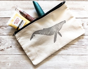 Hand Stamped Bag - Whimsical Whale