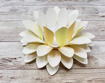 Watercolor Paper Lotus Lantern -Summer Sunrise-