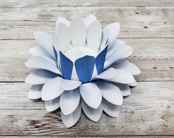 Watercolor Paper Lotus Lantern -Sapphire-