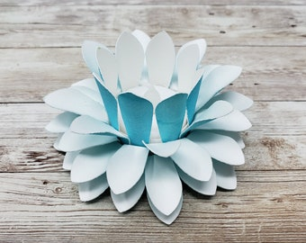 Watercolor Paper Lotus Lantern -Sea Opal-