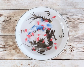 Blue Koi in Dragon Plate