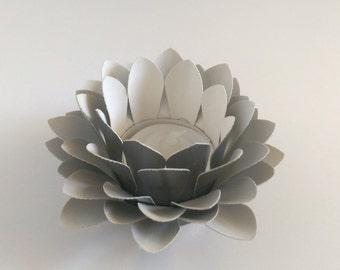 Paper Lotus Lantern -Metallic Grey-