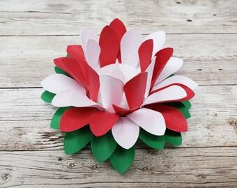 Paper Lotus Lantern -Candy Cane-