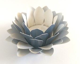 Paper Lotus Lantern -Metallic Blue-