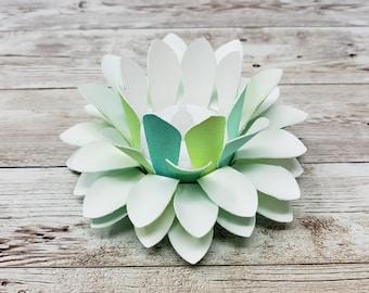 Watercolor Paper Lotus Lantern - Spring-