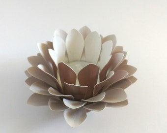 Paper Lotus Lantern -Metallic Copper-