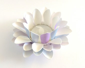 Paper Lotus Lantern -Purple and Blue-