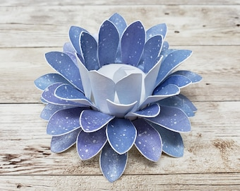 Watercolor Paper Lotus Lantern -Galaxy-