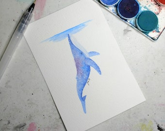 Humback Whale Watercolor