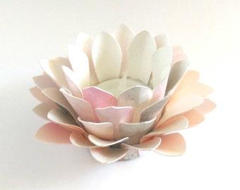 Paper Lotus Lantern -Watercolor Zen-