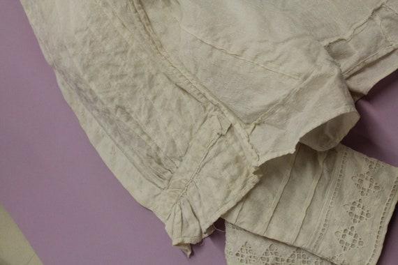 Victorian Shirtwiast, Antique Cotton Blouse, Whit… - image 10