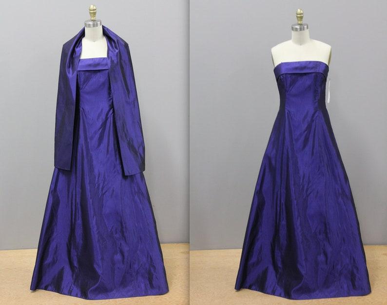 Iridescent Purple Prom Dress 1990s Purple Prom Dress With Etsy