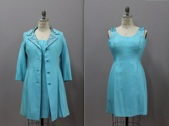 1960s Vintage Beaded Dress and Jacket, ONassis Sty