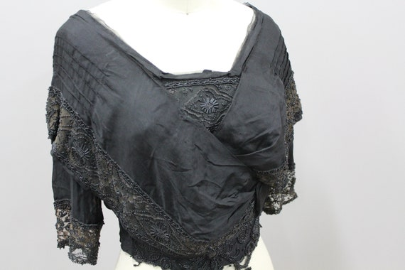 Beaded Victorian Mourning Blouse, 1900s Victorian… - image 4
