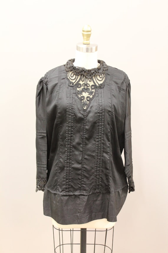 Victorian Mourning Blouse, Victorian Mourning Shir