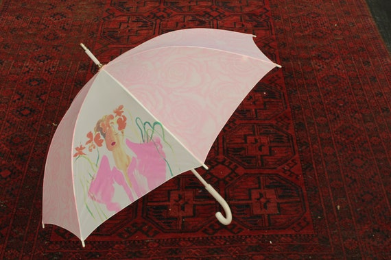 Vintage Barbie Pink Umbrella, Children's Barbie Re
