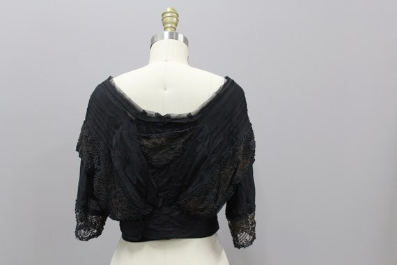 Beaded Victorian Mourning Blouse, 1900s Victorian… - image 7