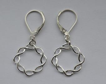 Sterling Silver Lever Back Earrings 51