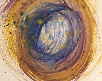 Energy Swirl I postcard!
