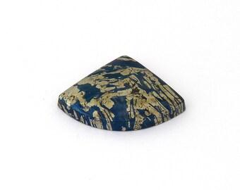 Metallic Blue Covellite Designer Cab Gemstone 21.6x21.9x4.5 mm Free Shipping Free Returns