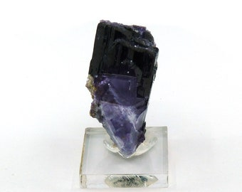Fluorite on Ferberite Mineral Specimen from China Free Shipping Free Returns