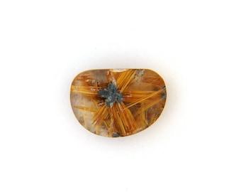 Natural Gold Rutilated Star Quartz Cabochon Gemstone 21.5x23.2x7.9 mm Free Shipping Free Returns