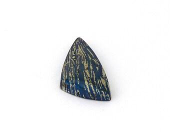 Metallic Blue Covellite Designer Cab Gemstone 14.9x28.3x4.9 mm Free Shipping Free Returns