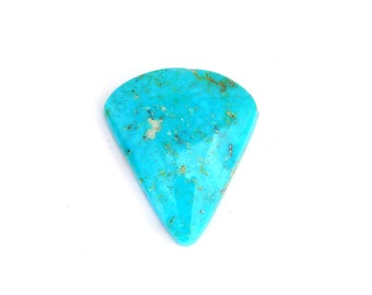 Natural Blue Kingman Turquoise Designer Cabochon with Free Shipping 22.8x26.4x5.4 mm