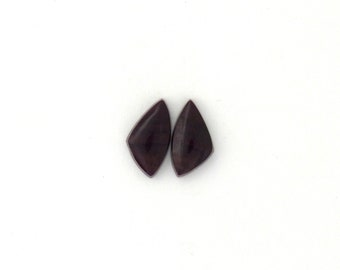 Sugilite Designer Cabochon Matched Pair 7.0x13.7x2.8 mm Free Shipping Free Returns