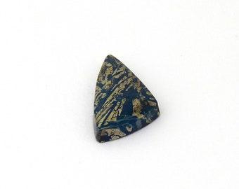 Metallic Blue Covellite Designer Cab Gemstone 13.5x25.9x4.3 mm Free Shipping Free Returns