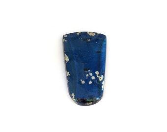 Metallic Blue Covellite Designer Cab Gemstone 19.6x34.3x4.6 mm Free Shipping Free Returns