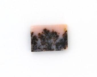 Dendritic Pink Opal Designer Cabochon Gemstone 15.6x22.0x3.5 mm Free Shipping Free Returns