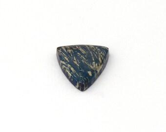 Metallic Blue Covellite Designer Cab Gemstone 15.7x19.0x3.4 mm Free Shipping Free Returns