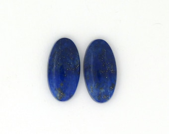 Natural Blue Afghanistan Lapis Lazuli Pyrite cabochons 11.7x22.7x4.0 mm Free Shipping Free Returns
