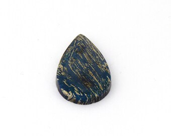 Metallic Blue Covellite Designer Cab Gemstone 20.2x36.6x4.2 mm Free Shipping Free Returns