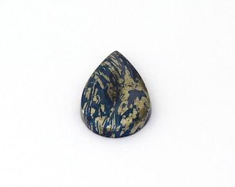 Metallic Blue Covellite Designer Cab Gemstone 16.1x27.5x3.5 mm Free Shipping Free Returns