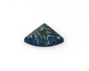 Metallic Blue Covellite Designer Cab Gemstone 21.6x27.0x4.9 mm Free Shipping Free Returns