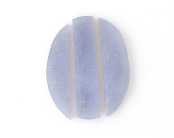 Blue Purple Chalcedony Designer Cabochon Gemstone Suite 26.9x38.6x5.0 mm Free Shipping Free Returns